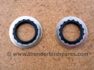 Petrol Tap Sealing washers, Dowty Type, Pair, 1/4 BSP, 70-7351